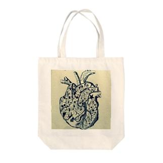 心臓technology Tote bags