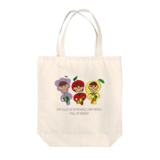 ふじフルーツ/Fuji Fruit Tote bags