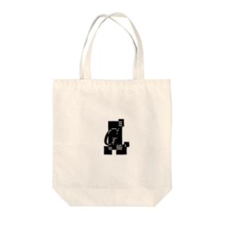 シンプルデザインアルファベットGワンポイント Tote bags