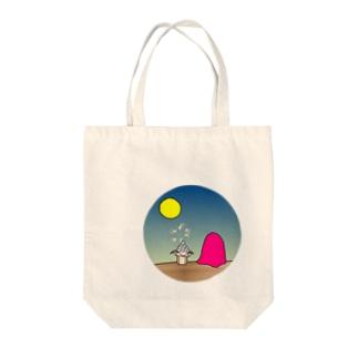 a full-moon night - オツキミ Tote bags