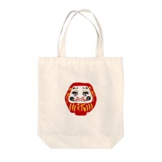 少女漫画のだるま Tote bags