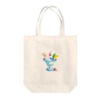 パステルなパフェ~ Tote bags