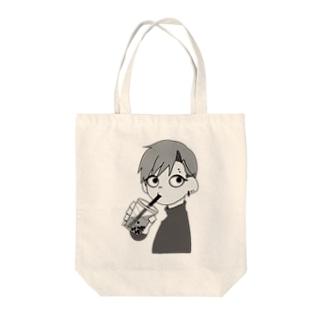 バッドボーイとタピオカ Tote bags