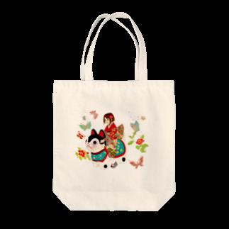 夢々の犬乗り女子 Tote bags