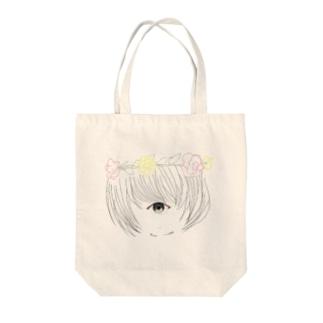 単眼少女② Tote bags