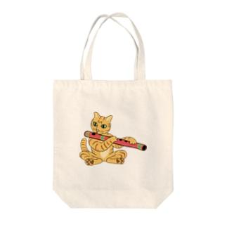 バンスリー猫 Tote bags