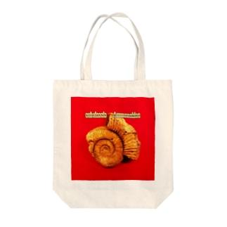 古生物:アンモナイト化石 Fossil: Ammonoidea Tote bags