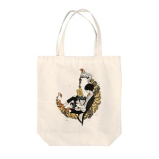 夜空の読書家 Tote bags