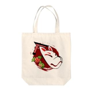 和風・狐面 Tote bags