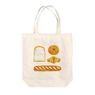 パンがパンパン Tote bags