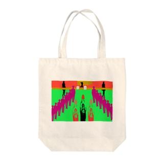 コミケの十戒と戦利品獲得 Tote bags