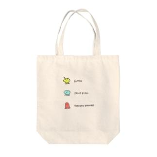 宇宙人クラゲウィンナー Tote bags