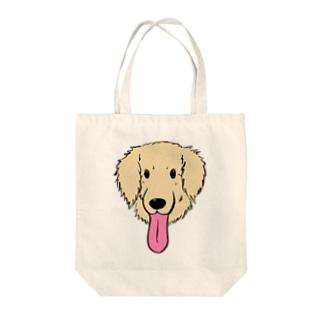 ながーいベロのわんこ(英国ゴールデンレトリバーVer.) Tote bags