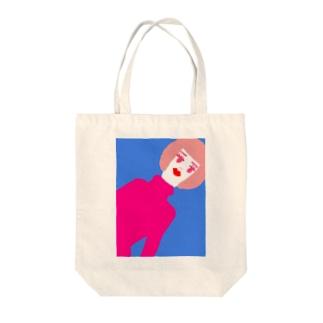 おかっぱ美女 Tote bags