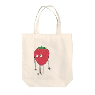 いちごさん Tote bags