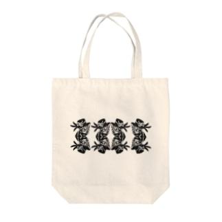 【切り絵】マジックキャット4 Tote bags