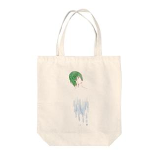 水に溶ける人 Tote bags