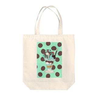 チョコミント少女クッズ Tote bags