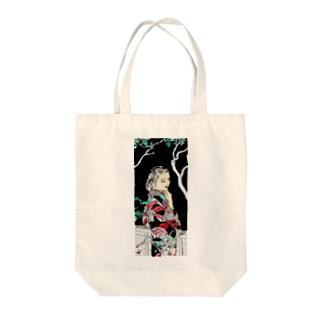 #いくぞ岩田屋  和服美女 堤千代 Tote bags