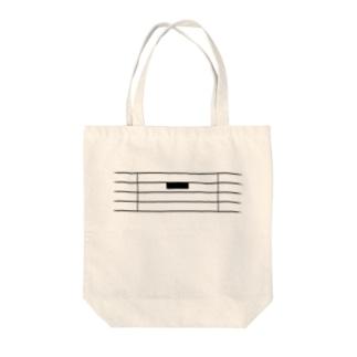 全休符(黒字) Tote bags