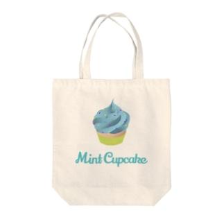 Mint Cupcake Tote bags