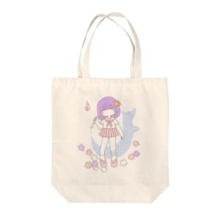 あやつる女の子 Tote bags
