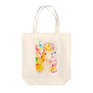 ユニコーン虹色の翼 Tote bags