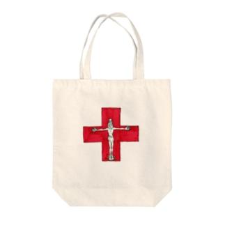 赤十字架 Tote bags