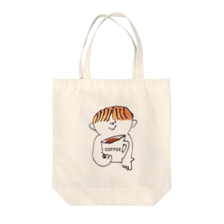 ぼくとcoffee Tote bags