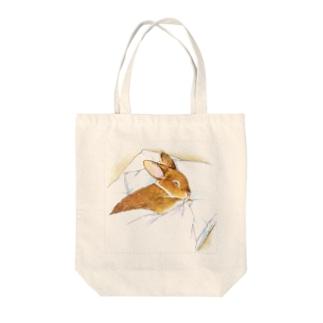 スヤスヤうさぎさん Tote bags