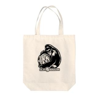 モナゴリラ モナコイン 単色BK (SZ) GemBox Tote bags