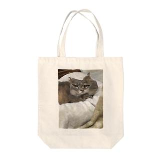 眠たくなってきちゃったうちの猫 Tote bags