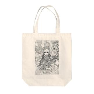 スプーンの女王(白黒) Tote bags