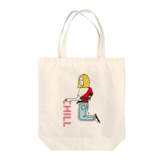 Chill ちるチールネ Tote bags