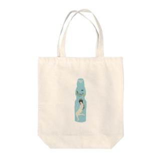 ラムネダイバー Tote bags