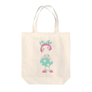 ファンシーガール Tote bags