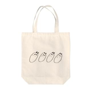 パンダのごえもん Tote bags