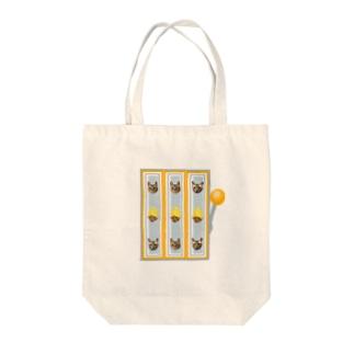 ネコスロット Tote bags