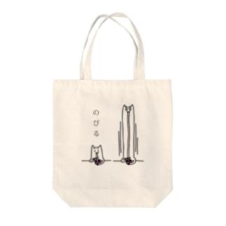 餅とネコが伸びる トートバッグ