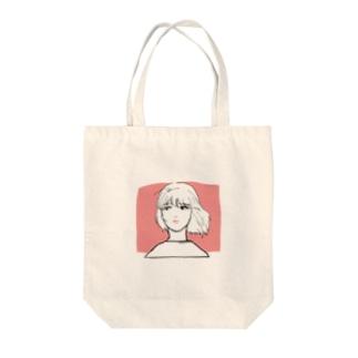 風をうけるアンニュイガール Tote bags