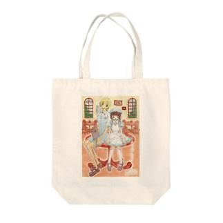 イラスト・カフェ Tote bags