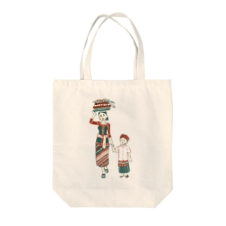 【バリの人々】お母さんと子供 Tote bags