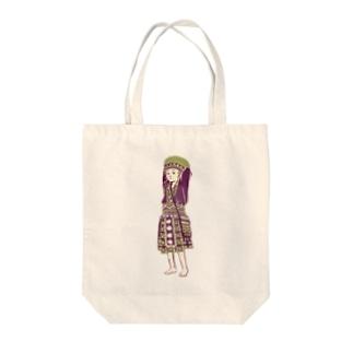【タイの人々】モン族の女の子 Tote bags