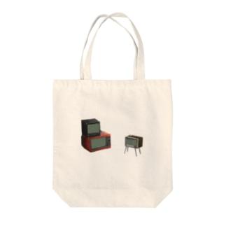 レトロテレビ Tote bags