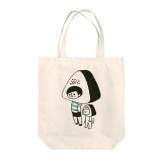 ボーダー坊や(おにぎり) Tote bags