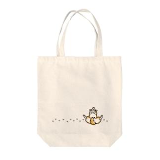 休憩中(足あと・赤柴) Tote bags