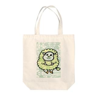 ひつじ Tote bags