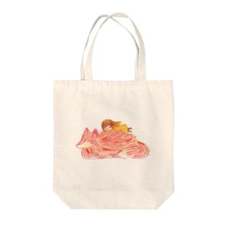暖かい友達 Tote bags