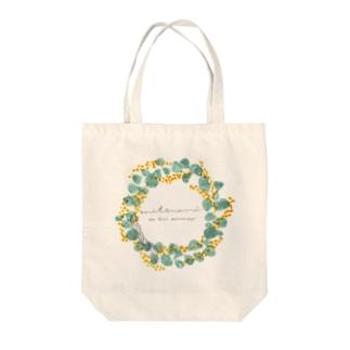 mitsuami 1st anniversary Tote bags