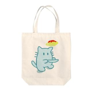 オムライスとネコ Tote bags